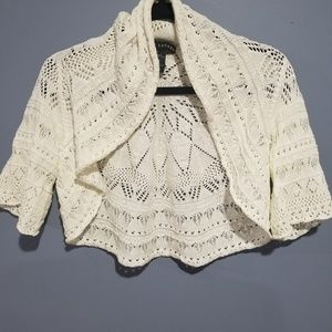 Ralph Lauren Crochet Shrug Sweater